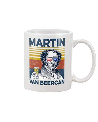 Martin Van Beercan, feliz taza del 4 de julio, taza de café de cerámica de distancia social personalizada del Día de la Independencia