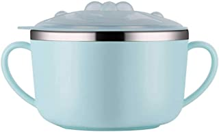 Lunch Box For Kids Noodles Bowl Lid Bento-boxes Ramen Cup Containers Stainless Steel Children's Meal Small 390ml