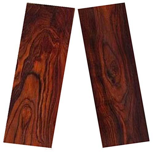Aibote 1 Paar natürliche Palisander Dalbergia Holz Messergriffe Material Platten Skalen Handgriff Teile Handgriffe Messer Benutzerdefiniertes DIY Werkzeug für die Messerherstellung Leere Klingen(12x4x1CM)