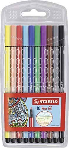 Premium-Filzstift - STABILO Pen 68 - 10er Pack - Sondersortierung