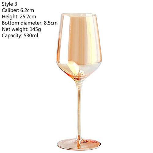 3 Soorten Specificaties Elektroplating Wijnglas Beker 400-600Ml Goud Goblet Portsble Wijnglas Wijnglazen Kristallen Wijnglazen Stijl 3 Gouden 530ml
