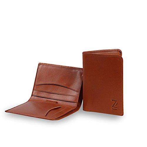 Cruz Leather Rfid Slim Card Wallet Eco Friendly Leather Gift Boxed Zoomlite Tan