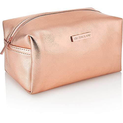 Lily England Borsetta Porta Trucchi - Pochette per Cosmetici da Viaggio, Borsa Toilette Donna o Beauty Case, Oro Rosa