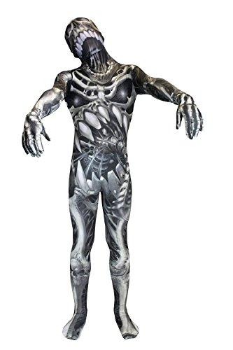 Morphsuits Kids Skull & Bones Monster Costume - Large 4'-4'6 / 10-12 Years