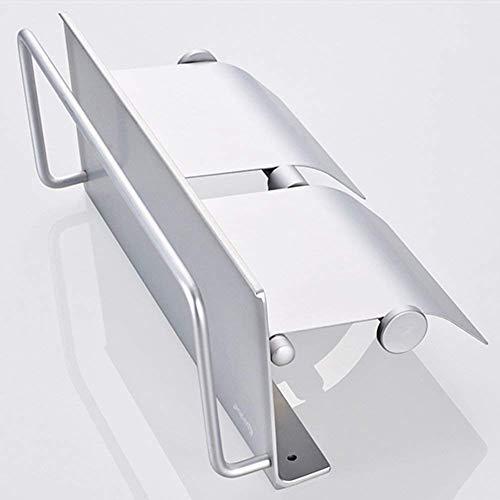 Shelf Küche Badezimmer Toilettenpapierhalter Wand Lagerist in Aluminium 2 Zeilen, 285 × 120 × 150 mm