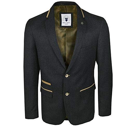 M DARCY Glen Tweed Blazer Navy