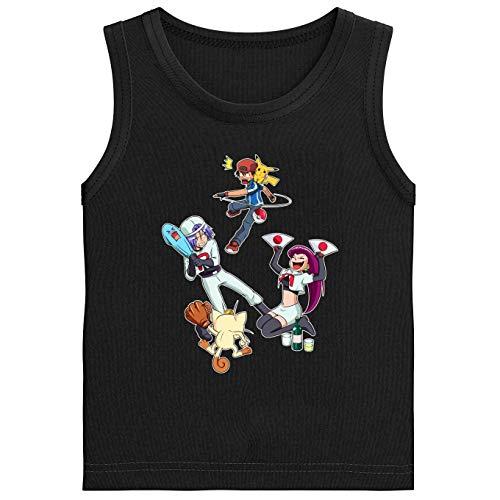 Pokémon grappig zwart jongens kindertop - Pikachu, Ash en de Team Rocket (Pokémon Parodie) (Ref: 645)
