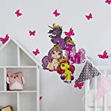 Filly Unicorn - Juego de adhesivos para pared (90 x 60 cm), diseño de unicornio