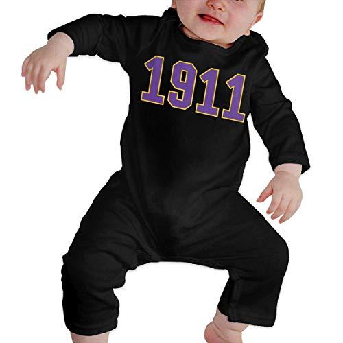 David Whitehead Body de Manga Corta para Bebé 1911 Omega QUE Dog ROO Nasty DAWG PSI PHI 2 Pijama de rastreador de bebé de mameluco de manga larga para recién nacido