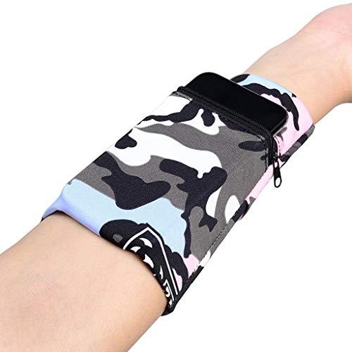 LEZDPP Armbänder für MP3-Player Läuft Handy-Arm-Beutel Männer und Frauen-Sport-Arm-Hülsen-Handgelenk-Arm-Beutel ultradünne Fitnessgeräte Handy-Beutel (Color : B, Size : Below 6.5 inches)