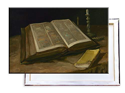 Unified Distribution Vincent Van Gogh - Stillleben mit der Bibel - Klassisches Gemälde - Replik auf Leinwand 120x80cm