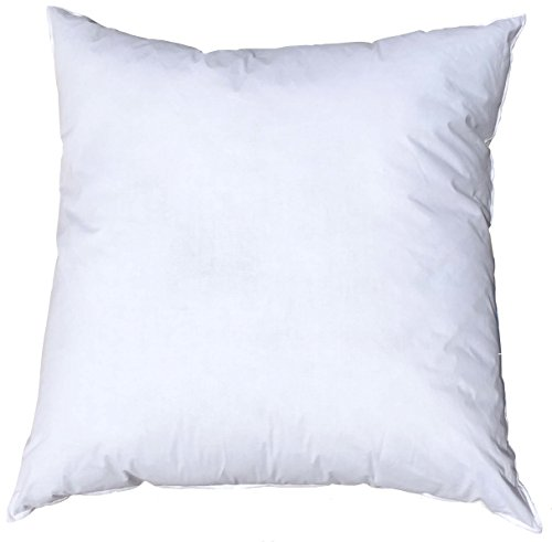 Pillowflex 16x16 Inch Premium Polyester Filled Pillow Form Insert - Machine Washable - Square - Made in USA