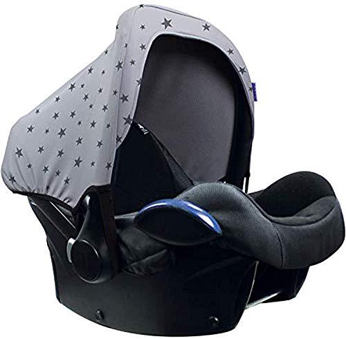 Original Dooky Hoody Magic Rain Sonnenschutz für Babyschalen Der Altersgruppe 0+ inkl. UV-Schutz 40+ Universal geeignet für die meisten Marken, grau