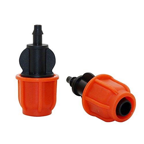 Adhere To Fly Lot de 20 raccords de tuyau en fil barbelé - 4/7 mm à 8/11 mm - Système d'irrigation de jardin