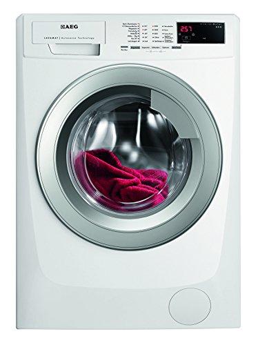 AEG LAVAMAT L69480VFL Waschmaschine FL / A+++ / 190 kWh/Jahr / 1400 UpM / 8 kg / 9999 L/Jahr / Beladungserkennung /Einfache Bedienung