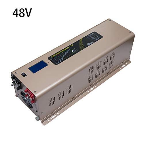 Cargador de inversor de Onda sinusoidal Pura Fuera de la Red, 5000W Pico 15000W con Pantalla LCD, convertidor de Salida DC 24V 48V a CA 110V 220V