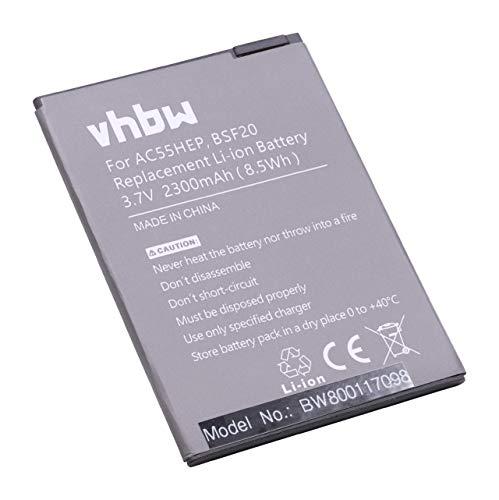 vhbw Li-Ion Akku 2300mAh (3.7V) kompatibel mit Handy Smartphone Handy Archos A55 Helium, Helium +, Helium Plus