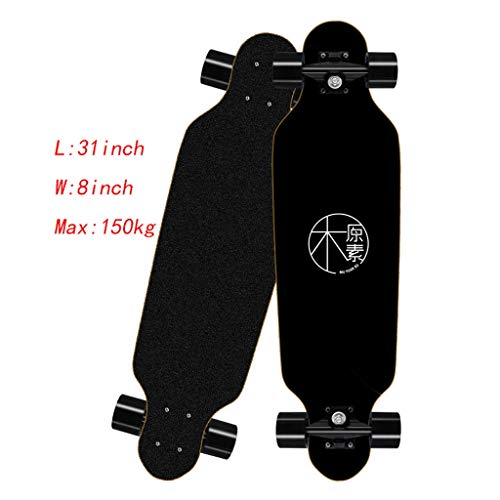 ZCR Cruiser Skateboard 8 Schichten Ahorn Deck Mini Pro komplett Longboards Skate-Brett Maximale Belastung 150 kg for Anfänger Teen Boys & Girls (Color : D, Size : 31in)