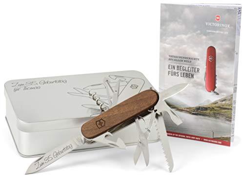 Victorinox Huntsman Wood (1371163) Taschenmesser Geschenk-Box mit Wunschgravur