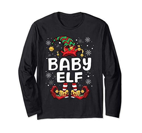 Baby Elf Shirt Kids Family Matching Christmas Elf Pajama Manga Larga