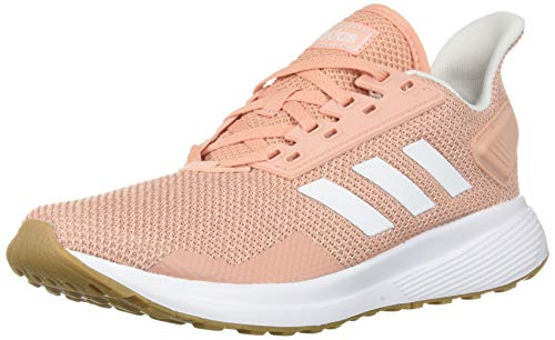 adidas Women's Duramo 9 Running Shoe, dust Pink/White/Clear Orange, 11 M US