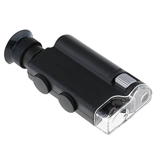 Gazechimp Mini 200-fach bis 240-fach Zoom Handlupe mit LED Licht, faltbar Mikroskop Juweliere Lupe