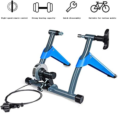 LJ Indoor Magnetic Turbo Trainer, Noise Reduction Bicycle Trainer /8 Speed Level Wire Control Adjuster Magnetic Bicycle Exercise Fitness Machine