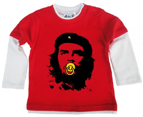 Dirty Fingers Dirty Fingers, Baby Che Guevara, Baby und Kleinkind, Skater Top, 3-6m, rot & Weiss
