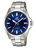 Casio EDIFICE Reloj en caja sólida, 10 BAR, Azul, para Hombre, con Correa de Acero inoxidable, EFV-100D-2AVUEF