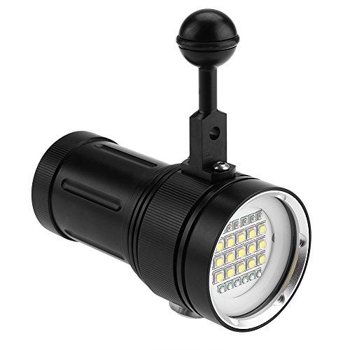 Fdit 15 x L2 Brillante LED Linterna de Buceo Antorcha de Aluminio Sumergible Impermeable Fotografía Video Antorcha Socialme-EU