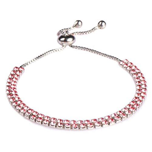 HINK New Zircon Pull Bracele Drill Claw Chain Simple Hot Female Bracelet Pink Jewelry & Watches Bracelets For Woman Easter Gift
