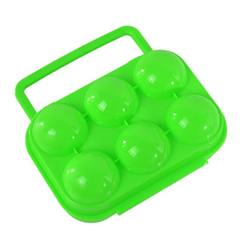 Rainbabe 6 œufs de stockage des œufs portable Plastique de transport support pour œufs Boîte pliable pour réservoir à Pinic