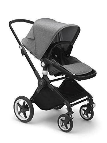 Bugaboo Lynx - The Lightest Full-Size Baby Stroller - All-Terrain Stroller with an Effortless Push and One-Handed Steering - Compatible with Bugaboo Turtle by Nuna Car Seat - Black/Grey Mélange