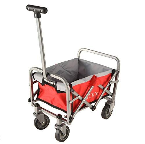 IMLEX Mini Spielzeug Bollerwagen rot faltbar für Kinder für Puppen oder andere Spielsachen