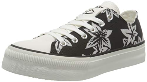 Replay Damen SANP Double-KEMPLEY Sneaker, 008 Black White, 40 EU