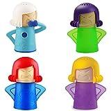 4 Piezas Limpiador de microondas, Desodorizante para Neveras, Angry Mama Limpiador Microondas, Limpiador de Vapor de microondas, Cool Mama Congelador Olor Ambientador Mejorar el Olor de Dormitorio