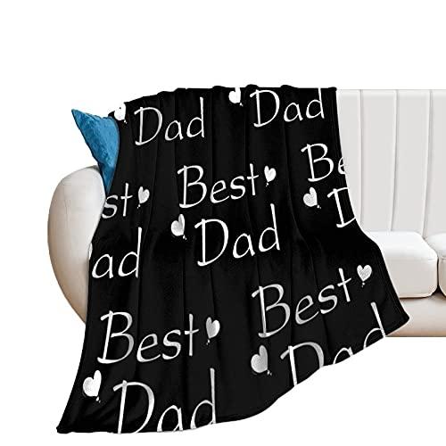 Eamibay Best Dad - Manta de microfibra suave al tacto (150 x 160 cm)
