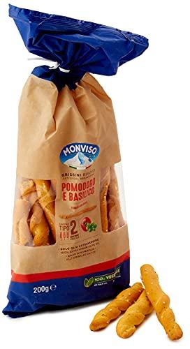 Monviso Grissini Rustici Pomodoro E Basilico - 200 g