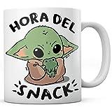 PANISCUS Taza para Regalar Baby Yoda Hora del Snack Regalo Divertido Broma Humor Sarcasmo...