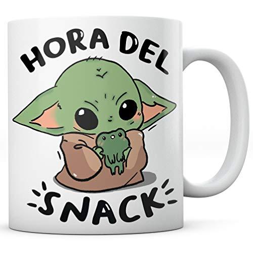 PANISCUS Taza para Regalar Baby Yoda Hora del Snack Regalo Divertido Broma Humor Sarcasmo Desayuno Café