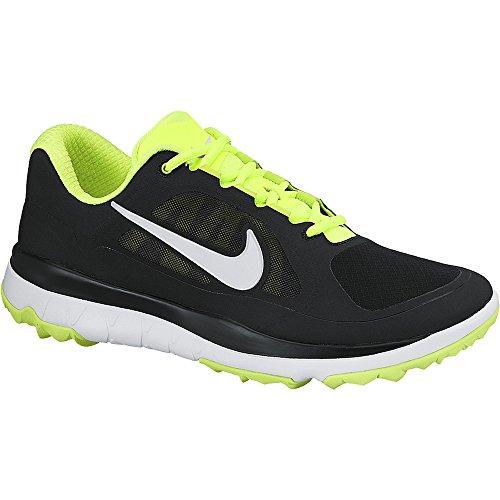Nike Herren FI Impact Golfschuhe Grün/Silber (Schwarz/Weiß-Volt-Mtllc Silverman), 48 1/2 EU