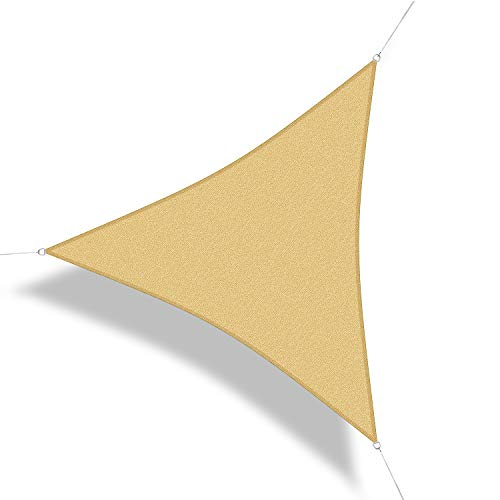Corasol 160202 Premium Sonnensegel, 2,5 x 2,5 x 2,5 m, Dreieck, Wind- & wasserdurchlässig, sandbeige