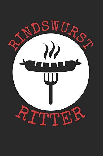 Rindswurst Ritter: A5 Notebook Kariert Karo für Griller | Bratwurst | Grillen | Krakauer |Rind | Würste | Wurst | Lustig | Spruch | Geschenk | Rindswurst | Rindscurry | Rindfleisch | Würstchen