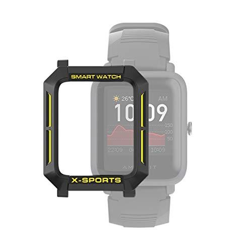 YANTAIAN para Huami Amazfit Bip Lite Versión 1S / Caja Protectora Bip S Inteligente Reloj de TPU, Color: Negro Amarillo