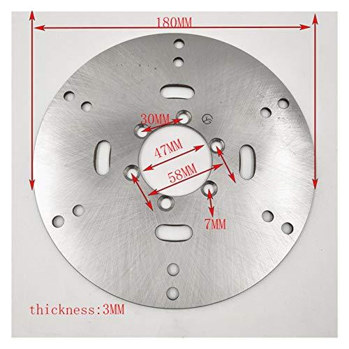 Rotor de disco de freno trasero delantero 108 130 158 170 180 190 mm para 125cc 150cc 200cc 250cc cuádruple de la suciedad cuádruple (Color : 180 47MM)