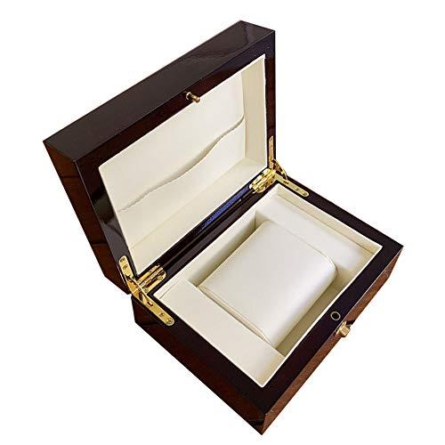 watch box Caja de Almacenamiento de Reloj con Tapa de Laca horneada...