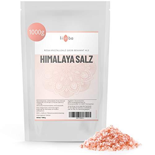 Rosa Kristallsalz – HIMALAYA SALZ 1 KG • grobes Salz für die Salzmühle • Steinsalz grob aus Pakistan • Rosa Salz für die Mühle • Pink Himalayan Salt 2-5 mm • in Deutschland abgefüllt