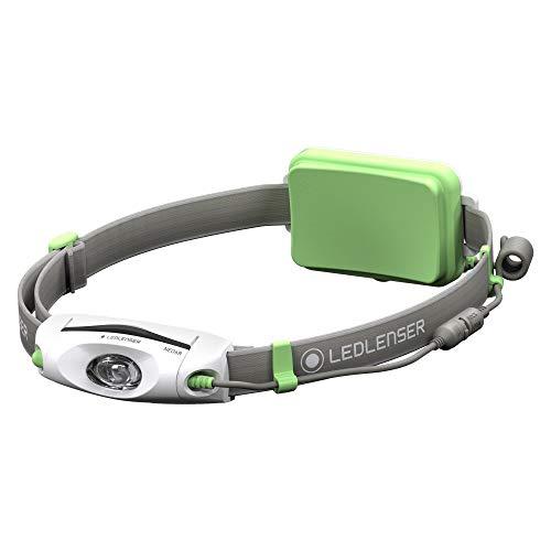 Ledlenser NEO6R LED Akku Stirnlampe, sehr helle 240 Lumen, 40 Stunden Laufzeit, wiederaufladbar, rotes Rücklicht, grün, inkl. Akku