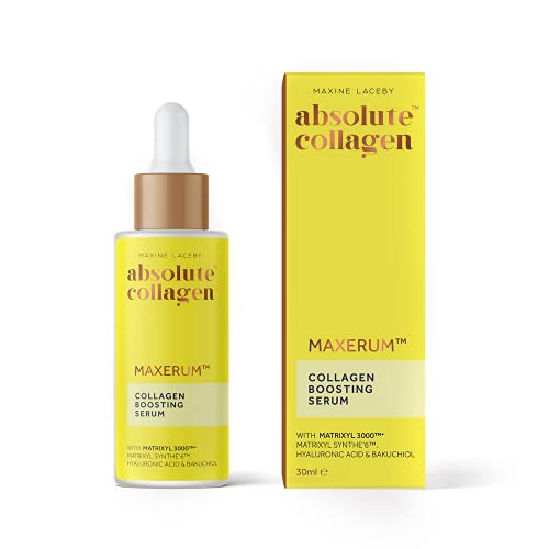 Absolute Collagen Boosting Serum With Bakuchiol & Hyaluronic Acid- The Ultimate Serum for Youthful,...
