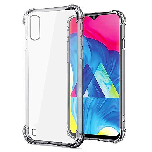 REY - Funda Anti-Shock Gel Transparente para Samsung Galaxy A10 y M10, Ultra Fina 0,33mm, Esquinas Reforzadas, Silicona TPU de Alta Resistencia y Flexibilidad